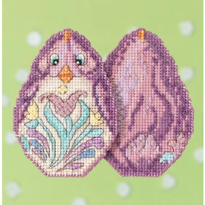 Purple Chick Cross Stitch Kit