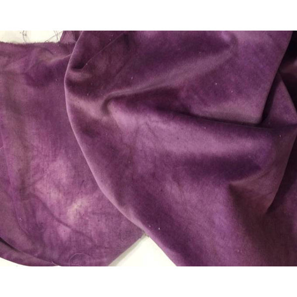 Purple Onion 100% Cotton Hand-Dyed Velveteen - Fat Eighth