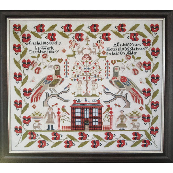 Rachel Howells 1856 Sampler Cross Stitch Pattern