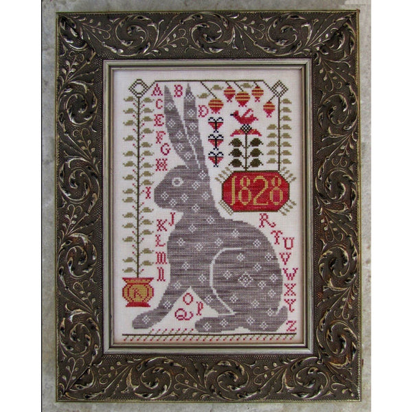 Rebecca Rabbit Cross Stitch Pattern