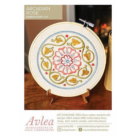 Arcadian Rose Embroidery Kit