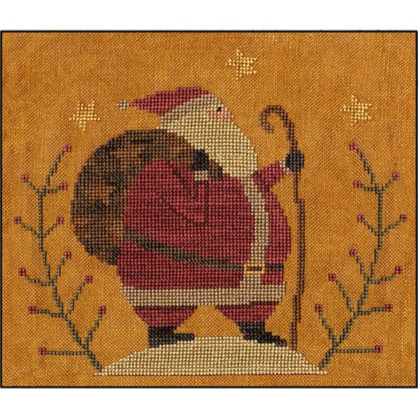 Santa's Hike Cross Stitch Pattern