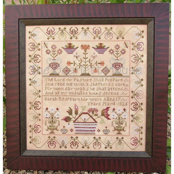 Sarah Redfearn 1826 Reproduction Sampler Cross Stitch Pattern