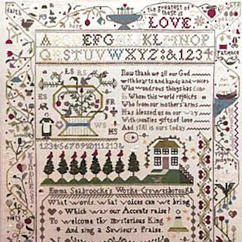 A Saviour's Praise Sampler Cross Stitch Pattern
