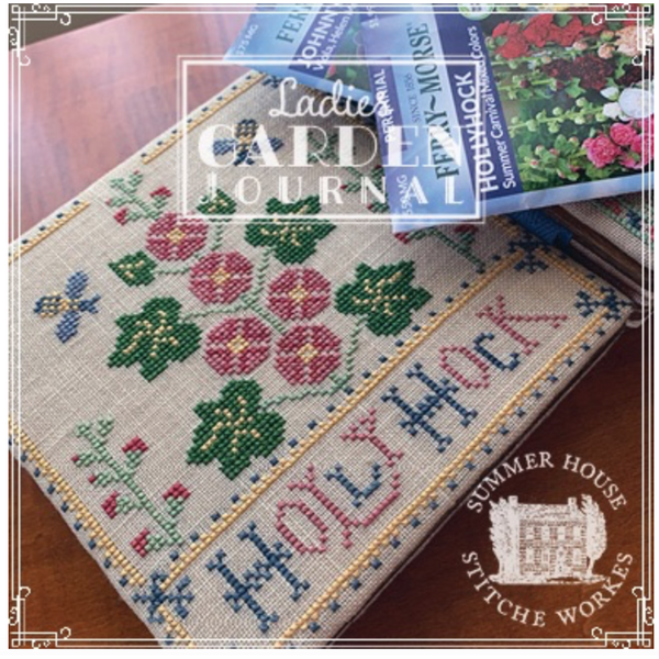 Ladies Garden Journal - Holly Hock Pattern Two