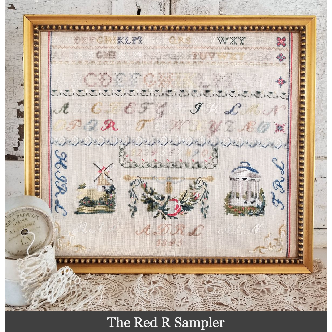 Red R Sampler Pattern