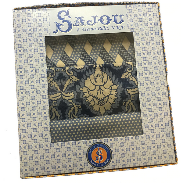 Sajou French Fabric - Damas Blue