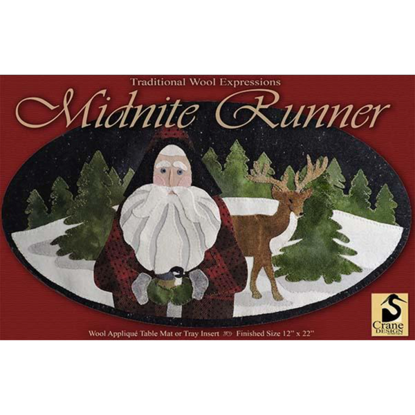 Midnite Runner Wool Applique Pattern