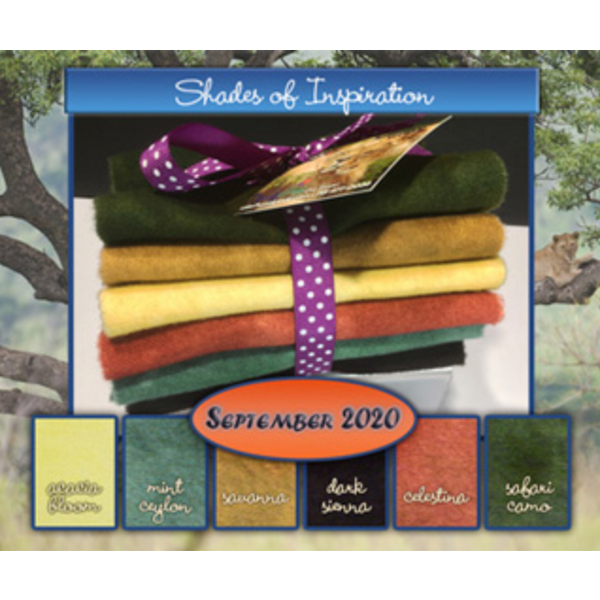 Wild Kingdom Shades of Inspiration Wool Fabric Bundle