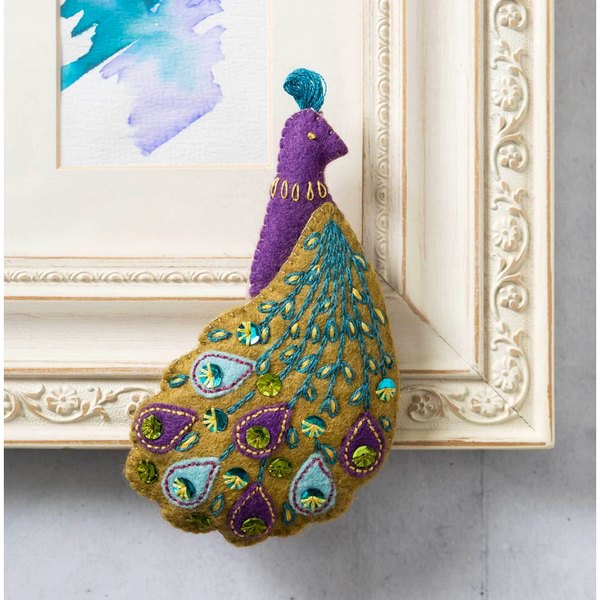 Pretty Peacock Felt Embroidery Kit