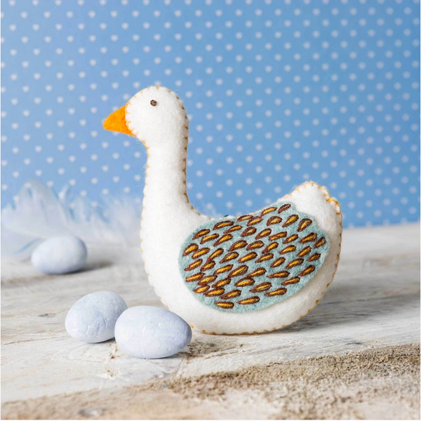 12 Days of Christmas - Goose a-Laying Mini Embroidery Kit