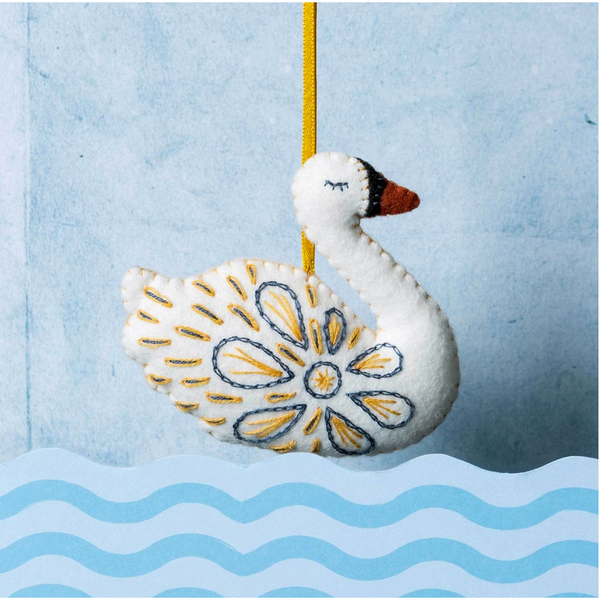 12 Days of Christmas - Swan a-Swimming Mini Embroidery Kit