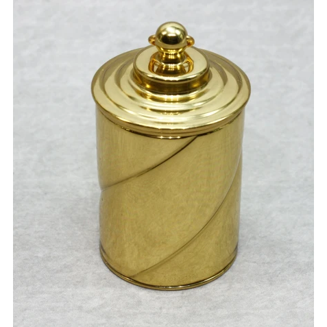 Thimble Case - Spiral Brass