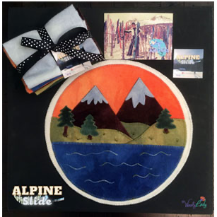 Alpine Slide Wool Applique Pattern