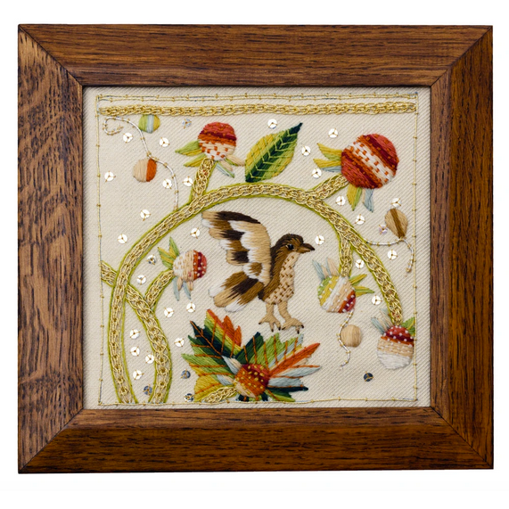 Shakespeare's Birds & Strawberries Crewel Embroidery Kit