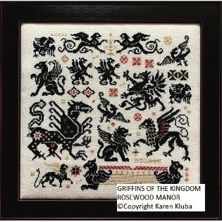 Rosewood Manor ~ Griffins of the Kingdom Pattern