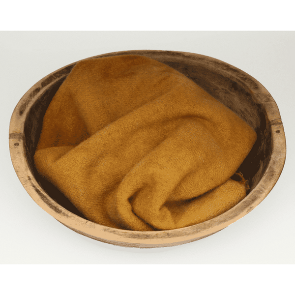 Blackberry Primitives ~ Mustard Hand-Dyed Wool Fabric Textured