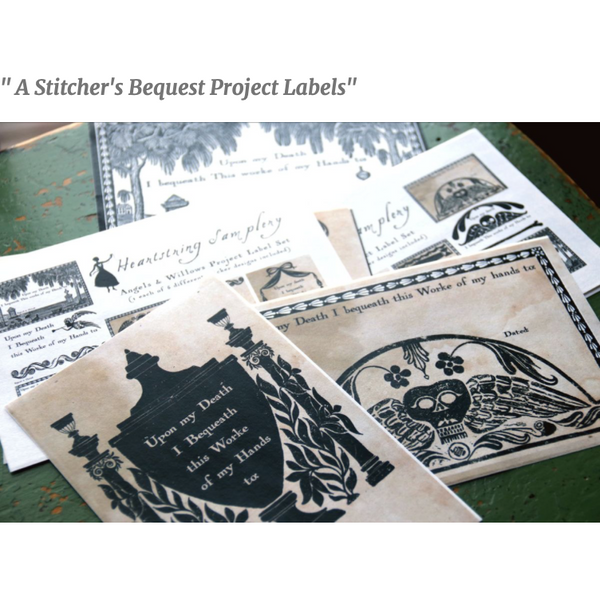 A Stitcher's Bequest Project Labels - Market Exclusive