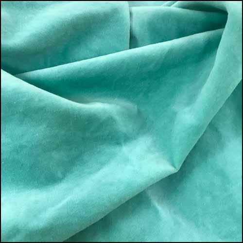 Sea Glass 100% Cotton Hand-Dyed Velveteen - Fat Eighth