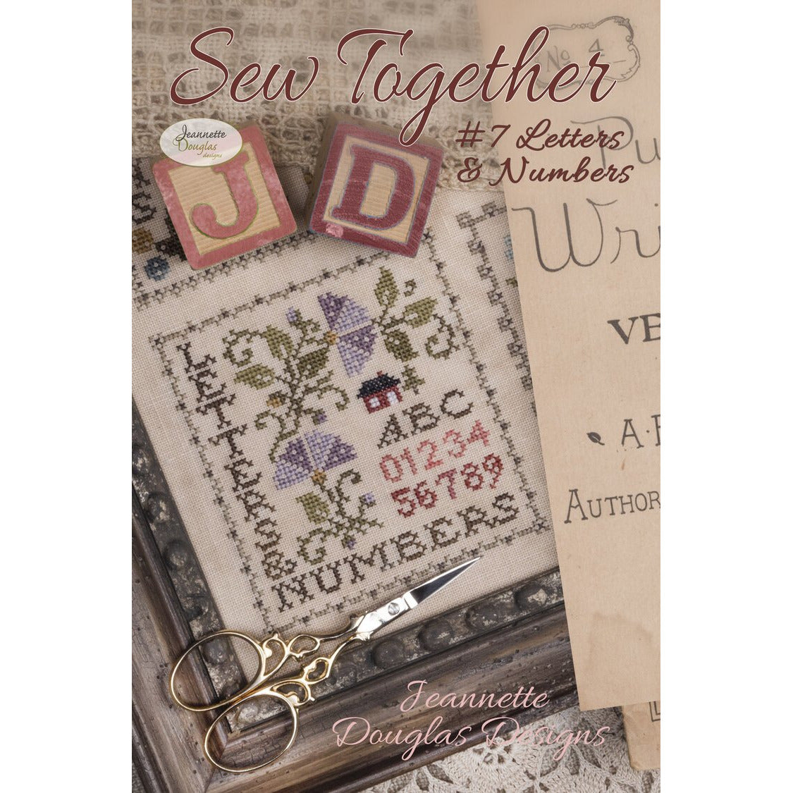 Sew Together #7 Letters & Numbers Pattern