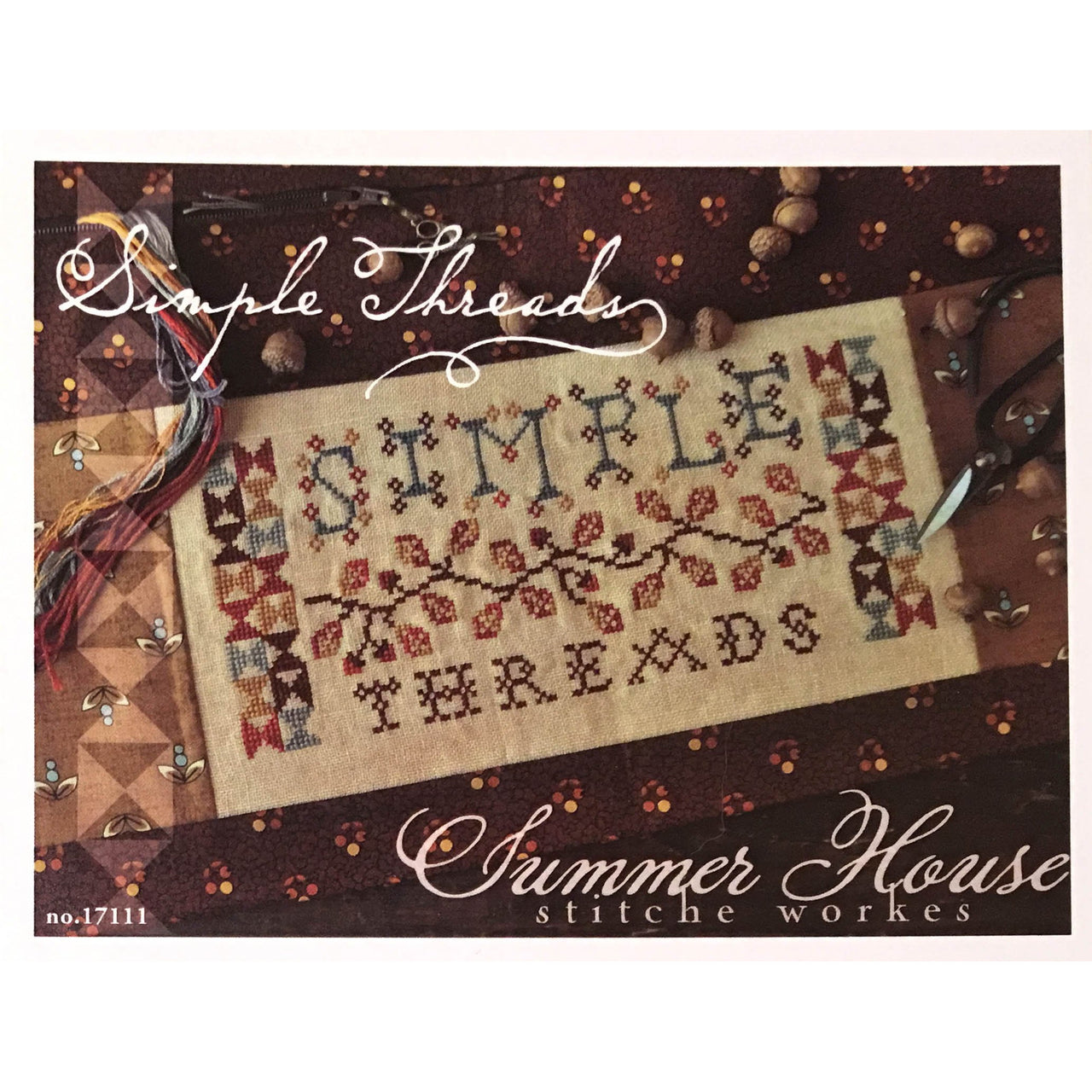 Simple Threads Cross Stitch Pattern