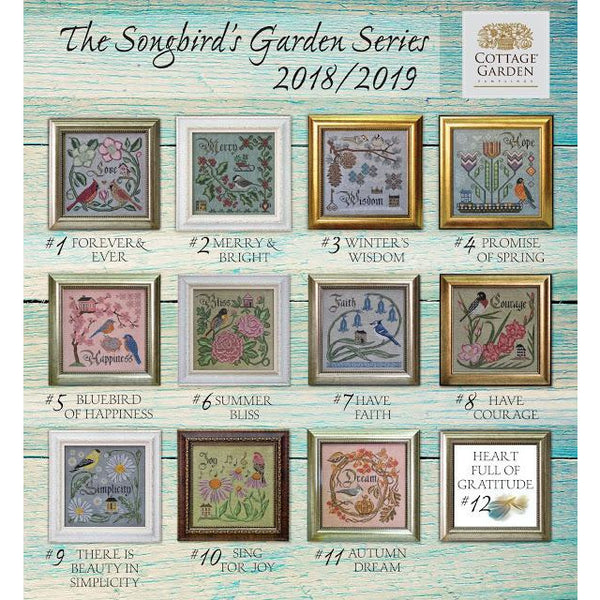 The Songbird's Garden Series Cross Stitch Pattern