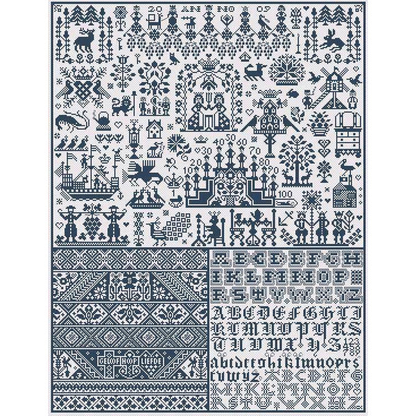 Spirit of Marken Long Dog Samplers Pattern