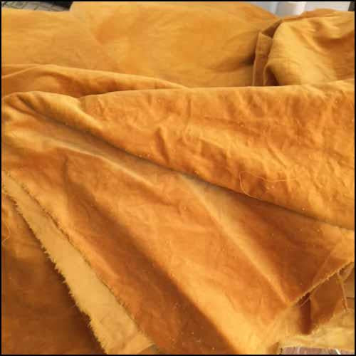 Squash 100% Cotton Hand-Dyed Velveteen - Fat Eighth