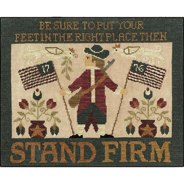 Stand Firm Patriotic Cross Stitch Pattern