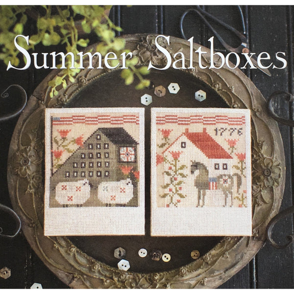 Summer Saltboxes Cross Stitch Pattern