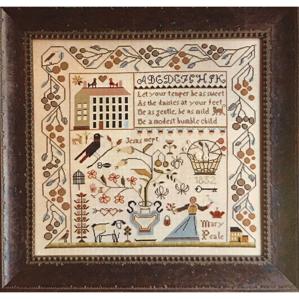 Sweet Temper Sampler Cross Stitch Pattern