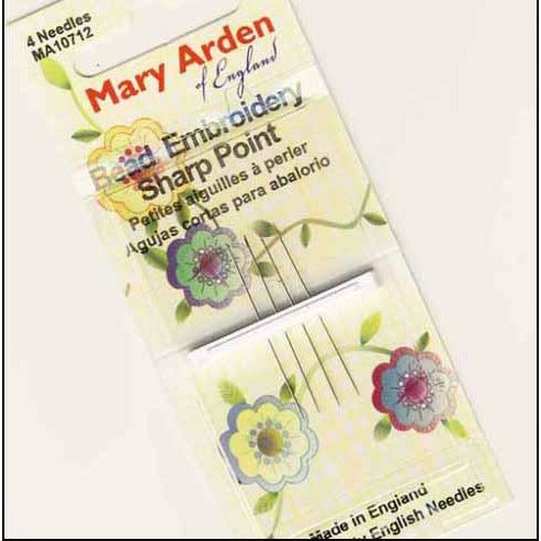 Mary Arden Size 10 Short Sharp Beading Needles
