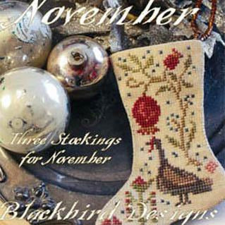 Thankful November Stockings Cross Stitch Pattern