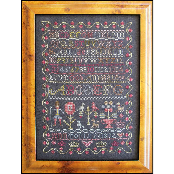 Ann Topley 1802 Reproduction Sampler Cross Stitch Pattern