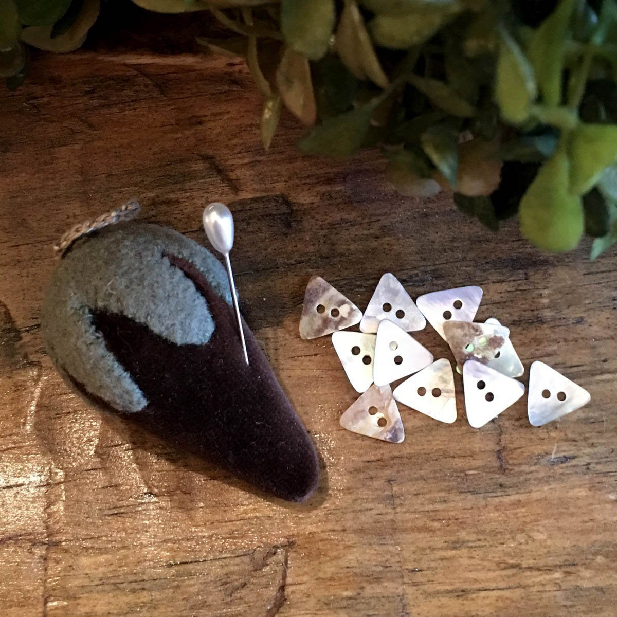 Mother of Pearl Mini-Triangle Buttons