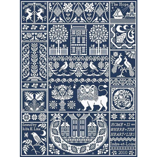 Tyler's Lion Long Dog Samplers Cross Stitch Pattern