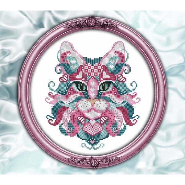 Colorful Cats - Valentino Pattern