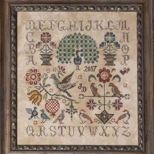 Vintage Birds Sampler Cross Stitch Pattern