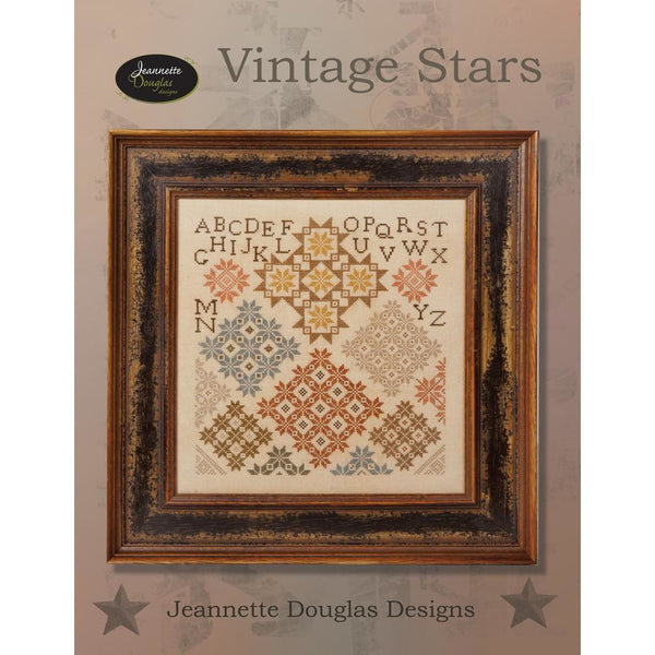 Vintage Stars Sampler Cross Stitch Pattern