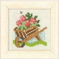 Garden Barrow Mini Cross Stitch Kit