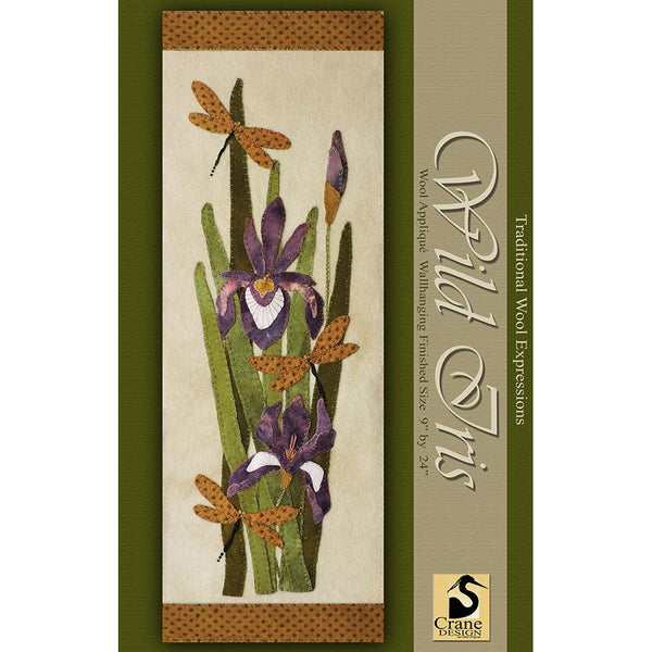 Wild Iris Wool Applique Pattern