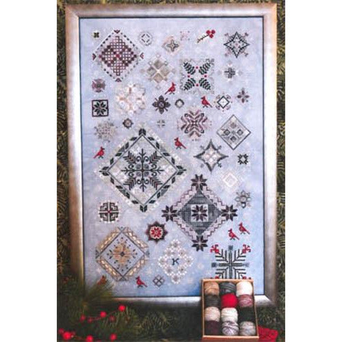 Winter Quakers Sampler Cross Stitch Pattern