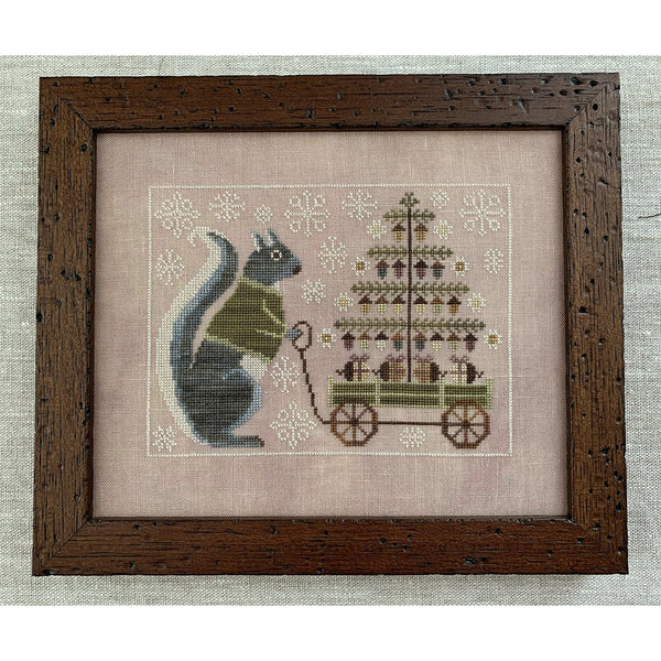 Winter Squirrel Cross Stitch Pattern