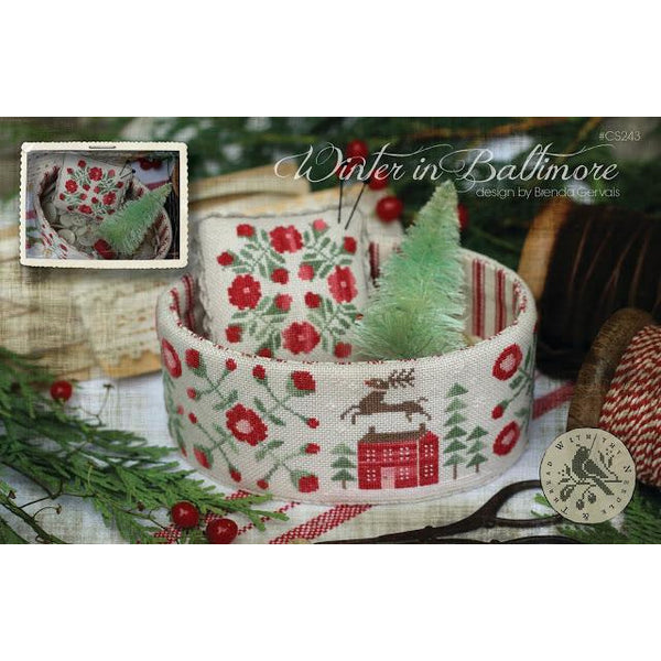 Winter in Baltimore Cross Stitch Pattern or Kit