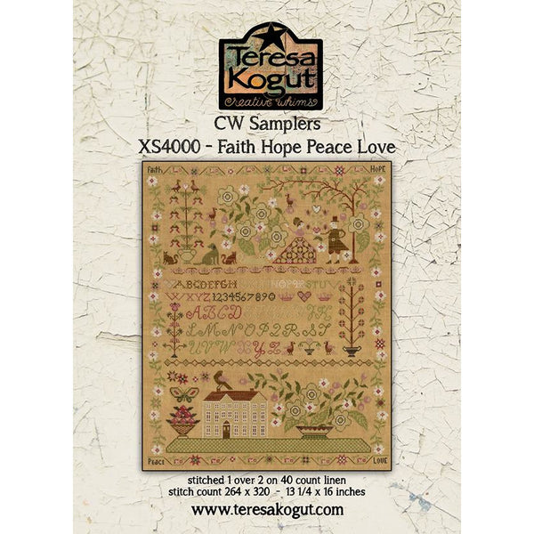 Faith Hope Peace Love Sampler Pattern
