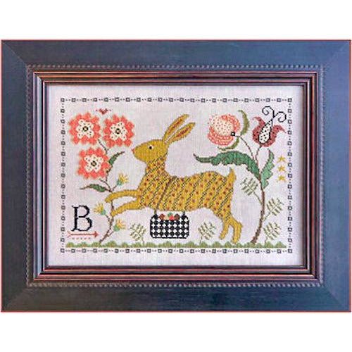 B is for Bunny Cross Stitch Pattern