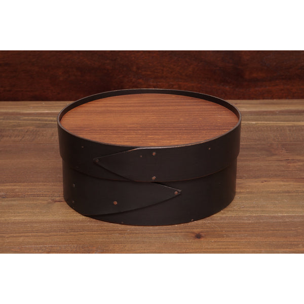 "Black Shaker 8"" Round Needlework Box"