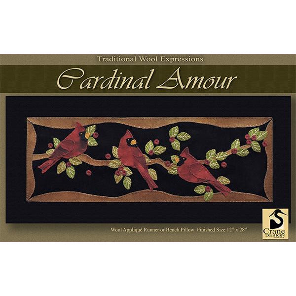 Cardinal Amour Wool Applique Pattern