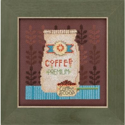 Coffee Grounds Cross Stitch Kit