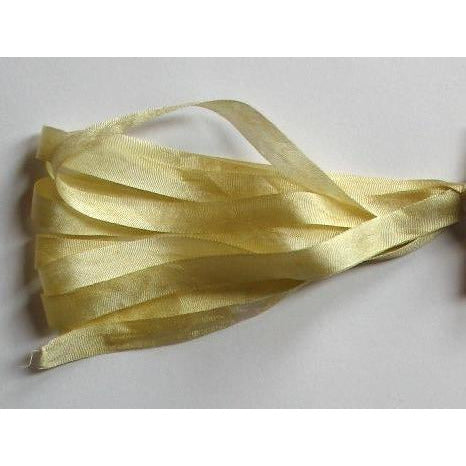 7mm Silk Ribbon ~ Egg Custard